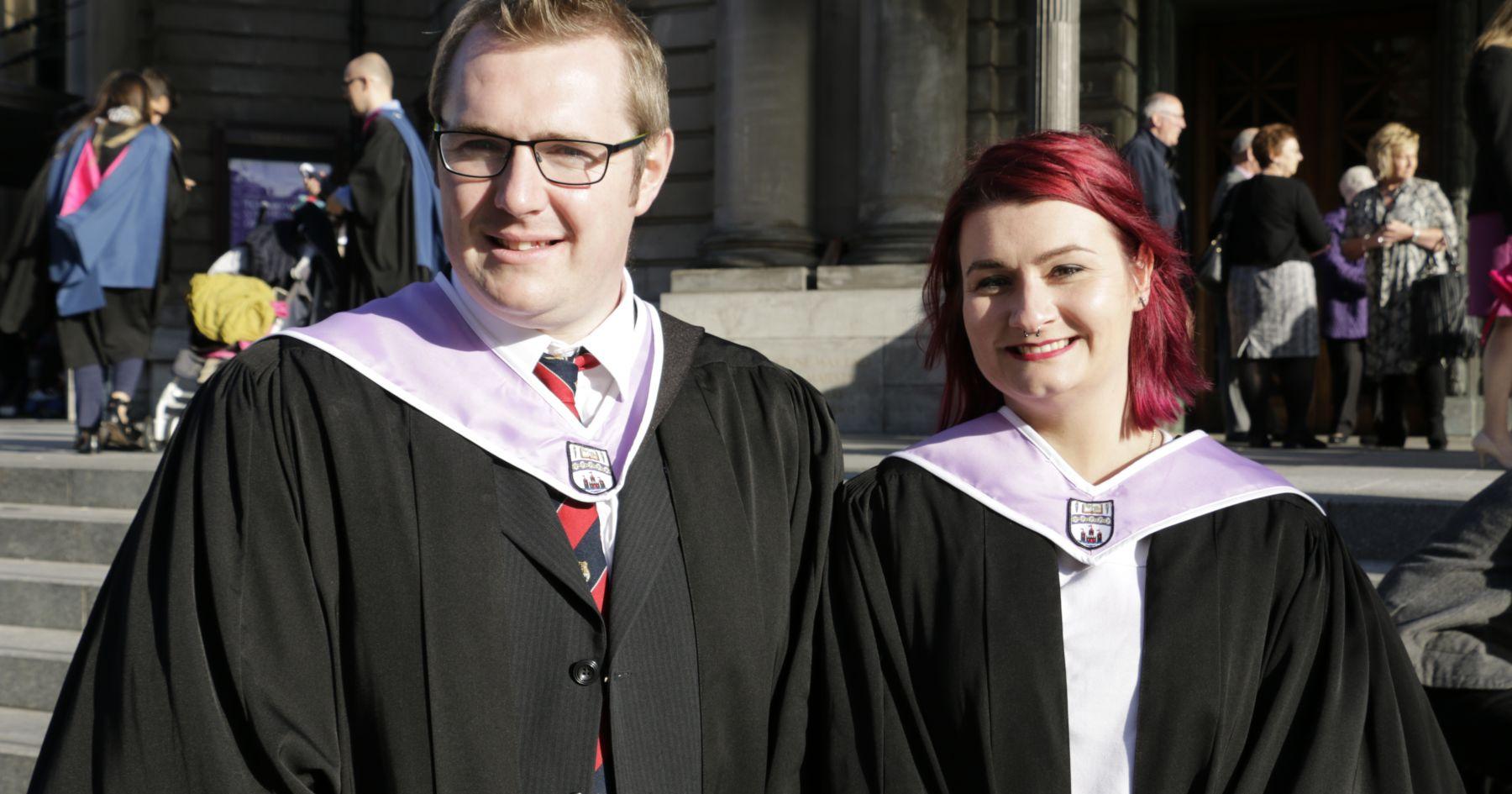 Neal and Amanda at Graduation