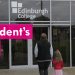 Picture of Carla walking into College with daughter