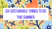 Six Sustainable Things to do this Summer